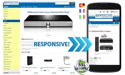 satonline responsive online shop