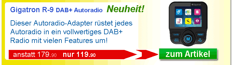 DAB+ Radio Gigatron R-9 mit Bluetooth und Verkehrsinfo