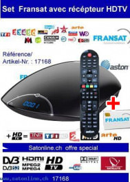 Sat Pay-TV Fransat+ HDTV +Aston Receive