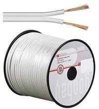 Audio Lautsprecher-Kabel 0.75 weiss