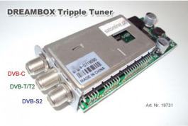 Dreambox Tuner Triple S2 + DVB-C + T2