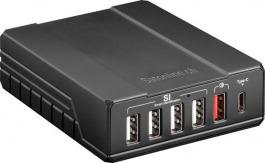 Ladegerät 6-fach USB QC2.0 + USB C