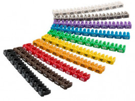 Kabelmarker Clips 10x10 colori 6mm