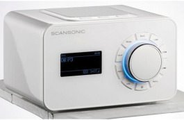 DAB+ Radio SCANSONIC R4S weiss