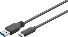 Kabel USB 3.0 Typ A > USB C 0.5 m black