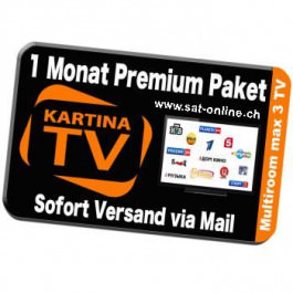 IPTV Kartina TV Verlängerung 1 Monat