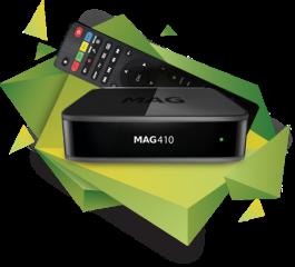 MAG 410 UHD Récépteur IPTV