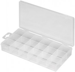 Plastikbox Sort mit 18 Fächern