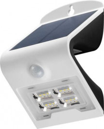 LED Solar Wandleuchte 2 W Weiss