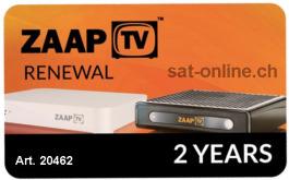 IPTV ZaapTV Verlängerung Renewal 2Years