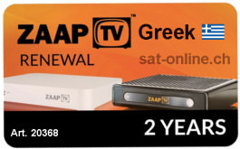 IPTV ZaapTV Greek Renewal 2 Years