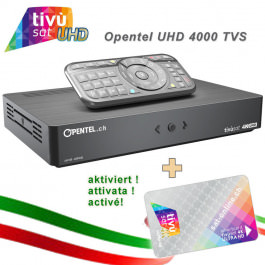 4K Tivusat Opentel UHD 4000 TVS+Karte!
