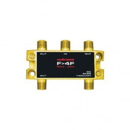 Splitter 4-fach 5MHz - 3GHz Gold