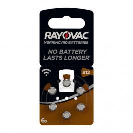 Knopfzellen Rayovac Acoustic PR41 312A