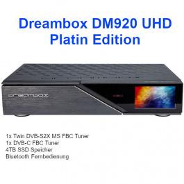 Dreambox DM 920 UHD 4K FBC S2/C Platin