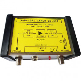DAB+ Radio Antennenverstärker +20dB