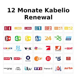Kabelio Renewal 12 Monate Zugangs Code