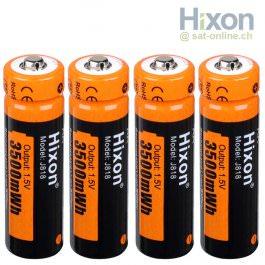 Hixon 4x AA Li-Ion Akku 1,5V 3500mWh
