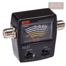Nissei RS-27 SWR- Watt-Meter 26-30 MHz