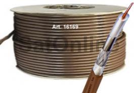 Sat Kabel 100Meter Koax Rolle SG6 BRAUN