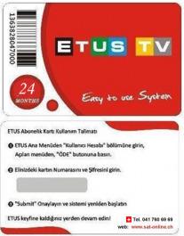 ETUS Türkiye IPTV Verlängerung 2 Jahre