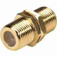 Sat F-Stecker Kupplung W/W Gold Edition
