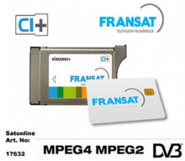 Sat Pay-TV Fransat+ HDTV Carte + Module