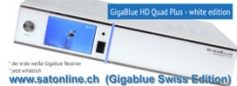 GigaBlue HD QUAD Plus WHITE * Aktion *