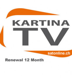 IPTV Kartina TV Verlängerung 12Monate