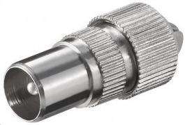 Coax Stecker Stecker FS 19z Metall
