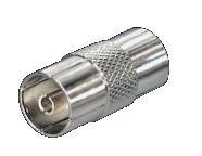 Coax Adapter Kupplung-Kupplung F/F Met.
