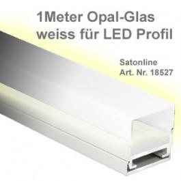 Profilo a LED in alluminio, vetro opalino 1 metro