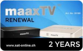 IPTV MaaxTV Verlängerung Renewal 2Years