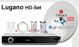 Sat Set Lugano ISIO HD + Antenne + CI