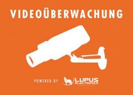 Alarm Zubehör Lupus Aufkleber Video
