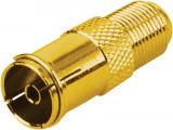Sat F-Kupplung auf Koax Kupplung GOLD