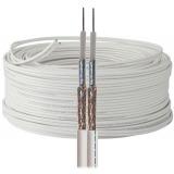 Sat Câble TWIN avec 2 fils 2x 5mm