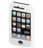 IPhone 3 Silikon-Schutzcase weiss