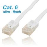 Netzwerk Kabel Slim Cat.6 7.00m weiss
