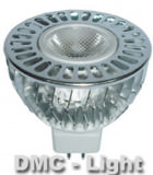 LED Silber Sonne Spot, 5W warmweiss 12V