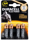 Piles 4pièces Duracell LR06 AA