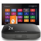 IPTV Kartina TV Twin Box + 12 Monate Abo