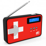DAB+ Radio digitale con bandiera Svizzera