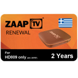 IPTV ZaapTV Greek Renewal 2 Years HD809