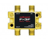 Splitter 3-fach 5MHz - 3GHz Gold