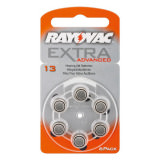 Celle a bottone Rayovac Extra Advanced PR48/13A 6 pezzi