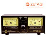 Zetagi 203 SWR + Watt Meter Dual