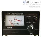 Midland SWR 30 SWR-Watt Meter 3.5-50 MHz