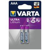 Batterie 2 pezzi. Varta Ultra Lithium AAA