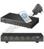 HDMI Umschaltbox 5 in 1 mit Fernbed.